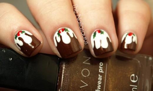 Figgy Pudding Nails