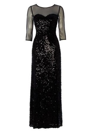 Hobbs sequin and sheer dress