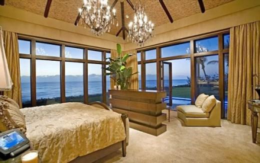 Luxury Acqua Liana House Bedroom Interior Design by Frank McKinney in Florida