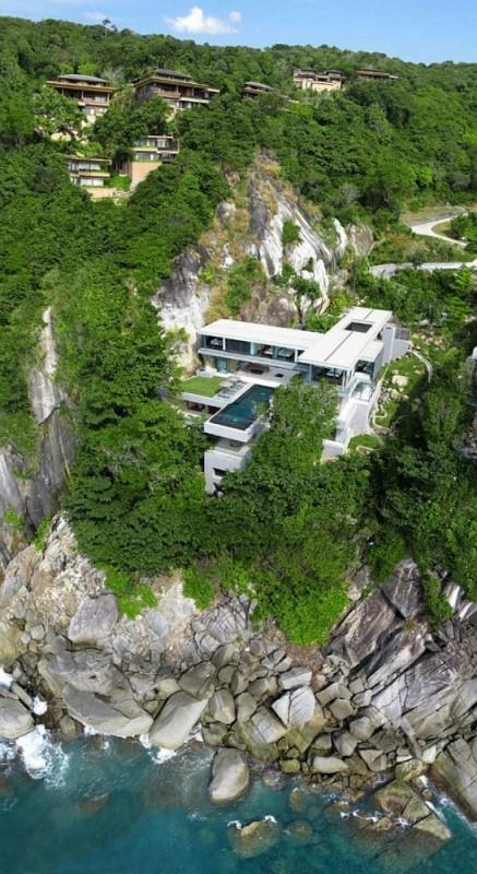 Luxury Villa Amanzi Phuket Thailand 13 cliff rental house