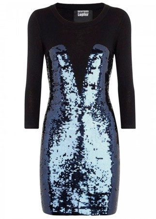 Markus Lupfer sequined wool dress