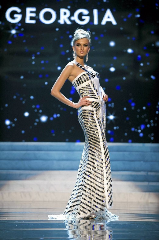 Miss Georgia Competing Miss Universe 2012 Fashion Style
