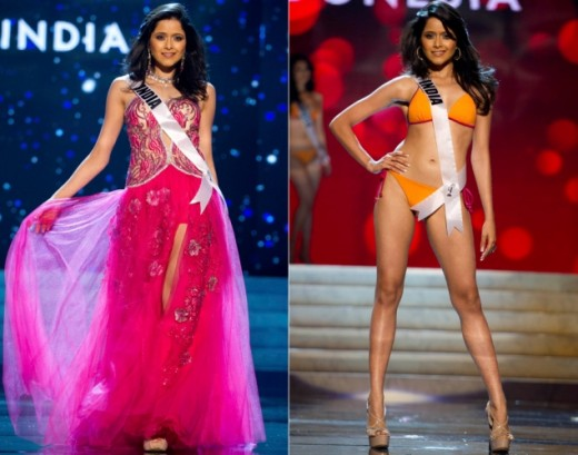Miss India Competing Miss Universe 2012 Fashion Style