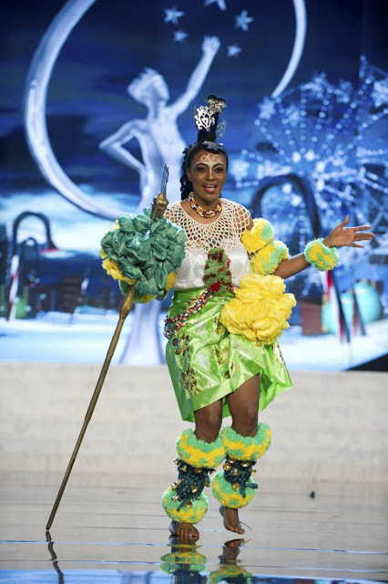 Miss Nigeria Isabella Agbor Ojong Ayuk National Costume of Miss Universe