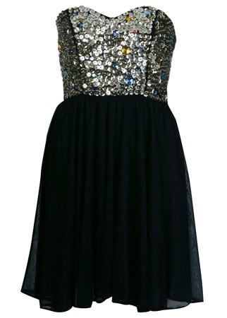 Miss Selfridge gem bustier strapless dress
