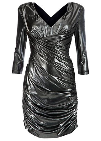 New Look metallic twist dress