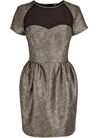 Oasis jacquard prom dress