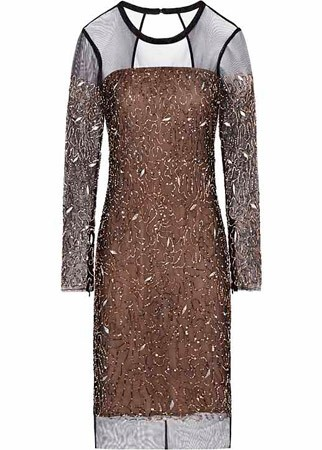 Reiss embroidered tulle dress