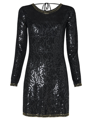Sequined dress by Mango