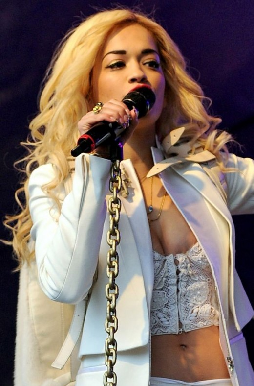 Singer Rita Ora Performing