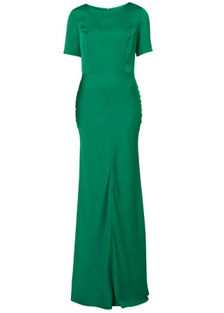 Topshop satin maxi dress