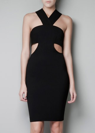 Zara cut-out bandeau dress