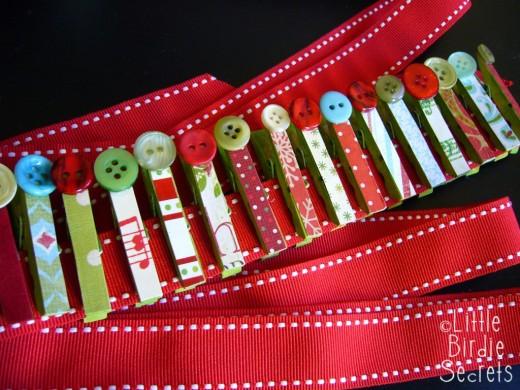 christmas card clothespin hanger idea how to