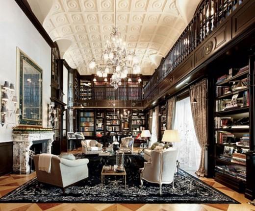 high class living space interior