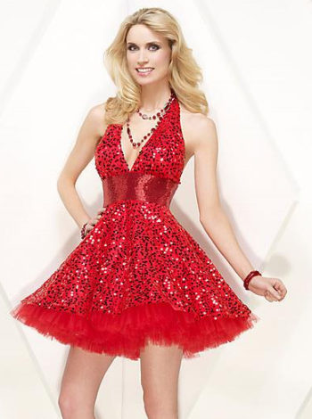 For The Christmas Parties Red Party Dresses Fashion