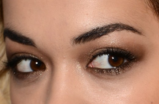 Rita ora eye makeup close