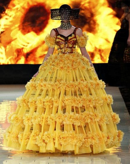 Alexander McQueen Spring 2013 dresses