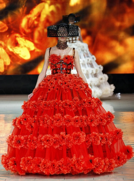 Alexander McQueen Spring dresses 2013