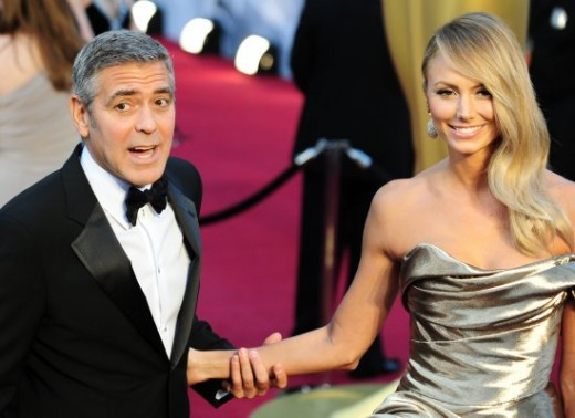 George Clooney and girlfriend Stacy Keibler