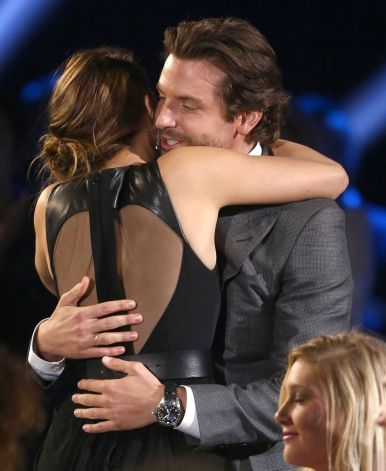 Bradley Cooper with Jennifer Lawrence