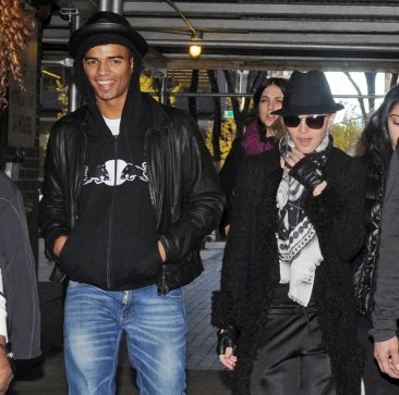 Madonna (right) and boyfriend Brahim Zaibat