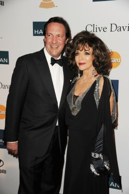 Joan Collins and husband Percy Gibson
