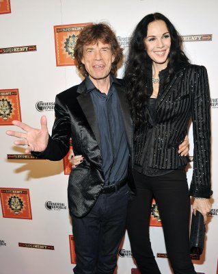 Mick Jagger with designer girlfriend L'Wren Scott
