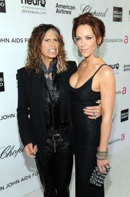Steven Tyler with fiancee Erin Brady