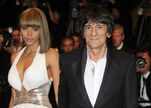 Ronnie Wood before marriage with Sally