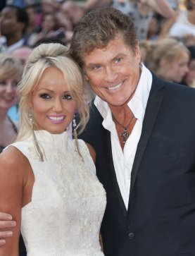 David Hasselhoff with his girlfriend Hayley Robert