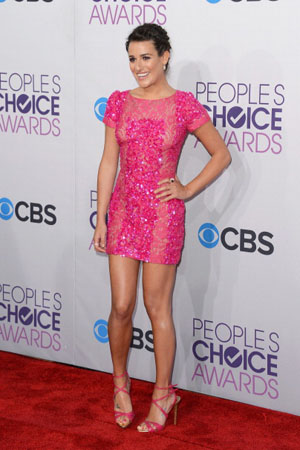 Actress Lea Michele attends the 39th Annual People's Choice Awards