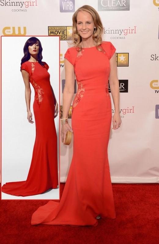 helen hunt philip armstrong red dress critics choice awards 2013