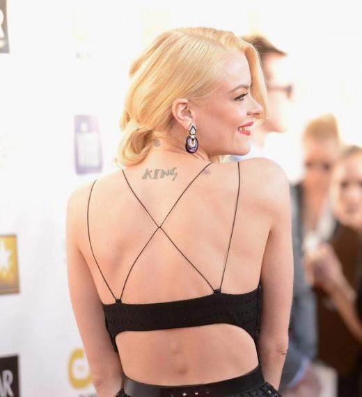 jamie king back tattoos critics choice awards 2013