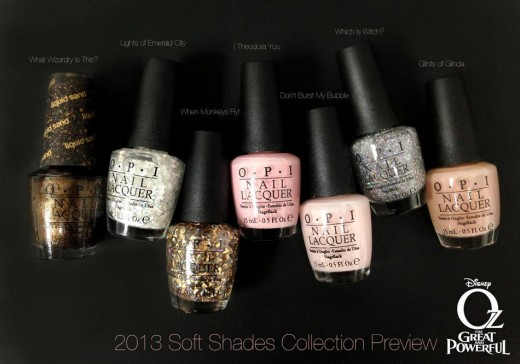 opi oz nail polish collection