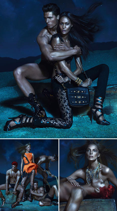 Kate Moss Starts Ad Campaign For Joan Daria Versace