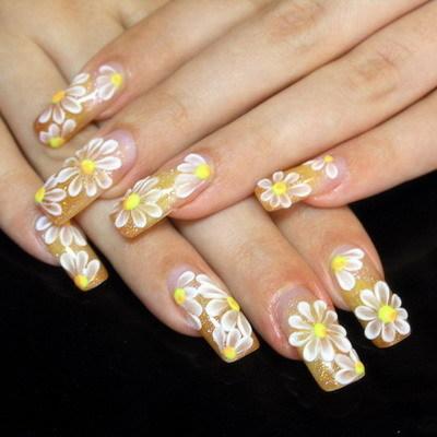 Flower Wedding Nail Designs