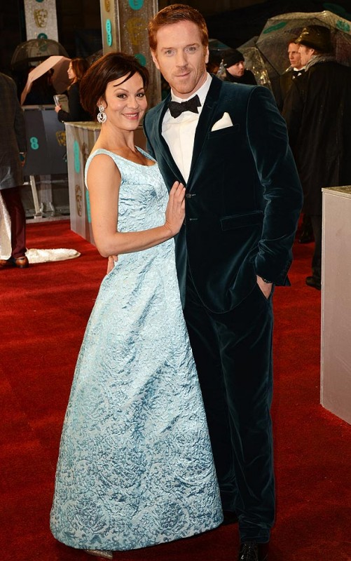 Damian Lewis and Helen McCrory wear blue on the red carpet