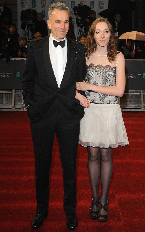 Daniel Day-Lewis was joined by niece Charissa Shearer