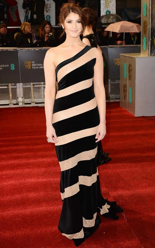 Gemma Arterton stole the limelight with a striped gown