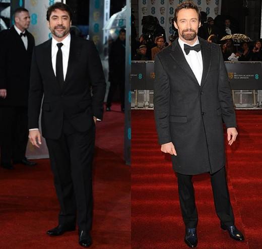 Javier Bardem and Hugh Jackman keep it smart in black tie