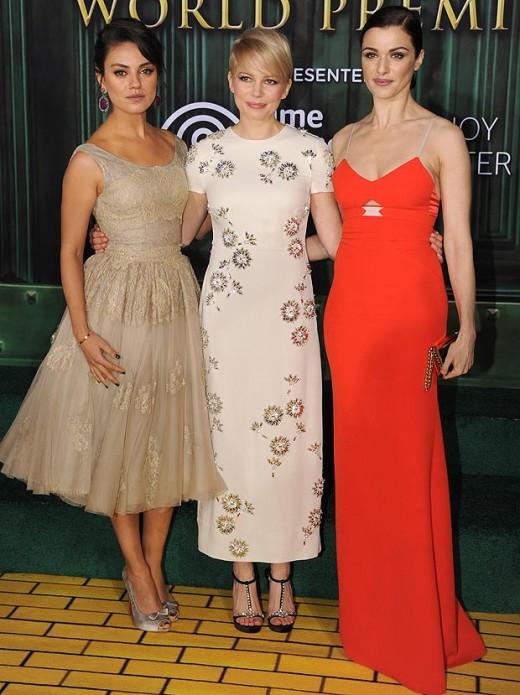 Mila Kunis, Michelle Williams and Rachel Weisz