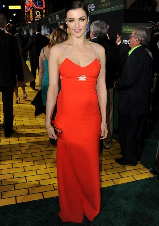 Rachel chose Victoria Beckham gown