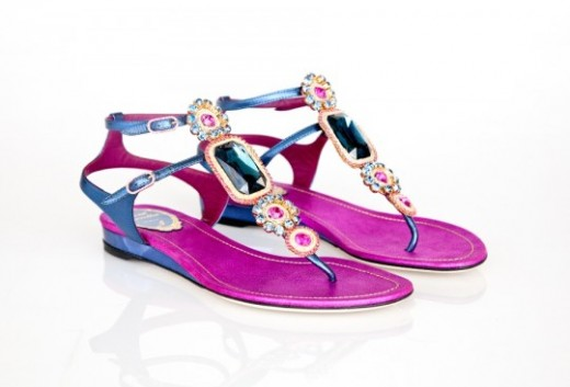 Rene Caovilla's Flat Beautiful Sandals