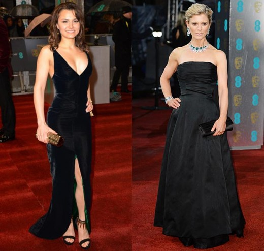 Samantha Barks chose a slinky style while Emilia Fox went for classic design