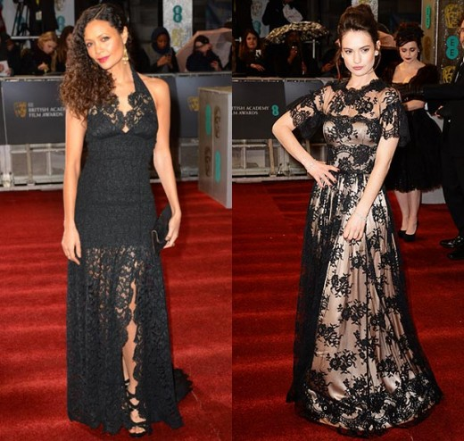 Thandie Newton and Lily James wore the trend of the night