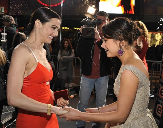 both Rachel and Mila share  jokes and funny chat with each other