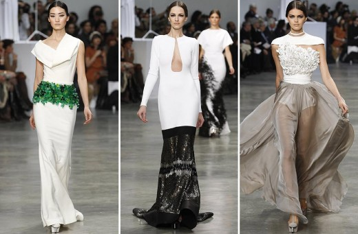white and black combination catwalk