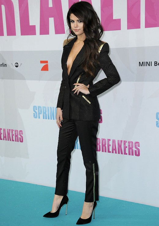 Selena at the Spring Breakers premiere last night