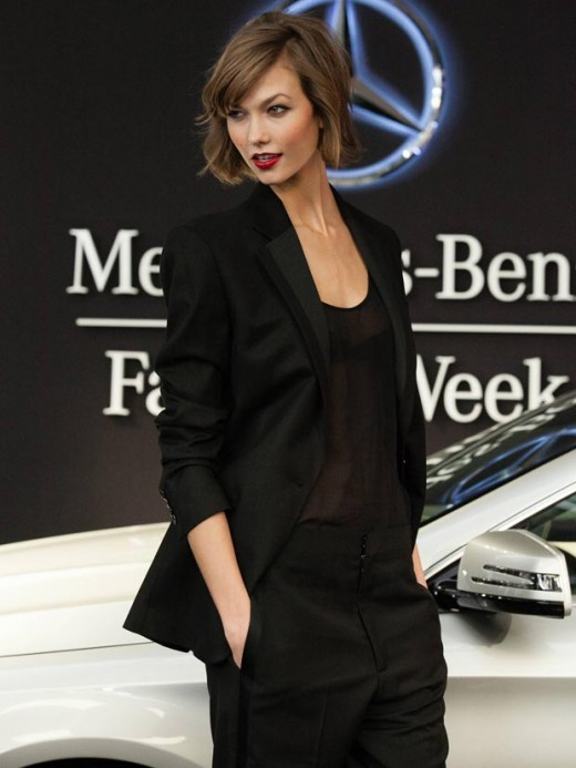 karlie kloss new mercedes benz launch