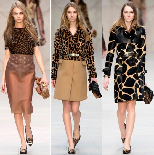 wear leopard print for fall burberry fall 2013 collection